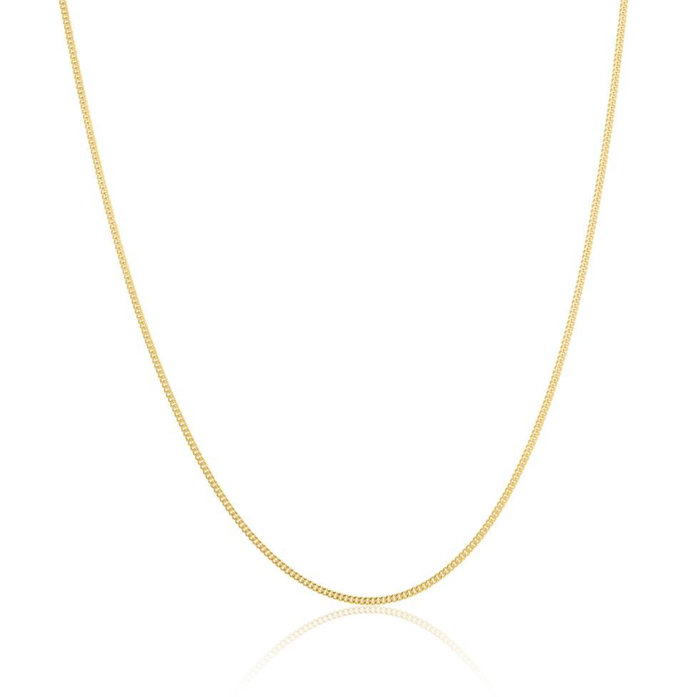 18ct Yellow Gold Medium Curb Chain 50cm Thumbnail Image 0