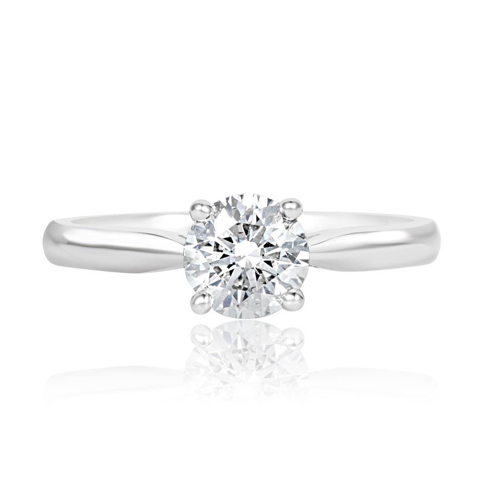 Platinum Classic Design Diamond Solitaire Engagement Ring 1.00ct Thumbnail Image 2