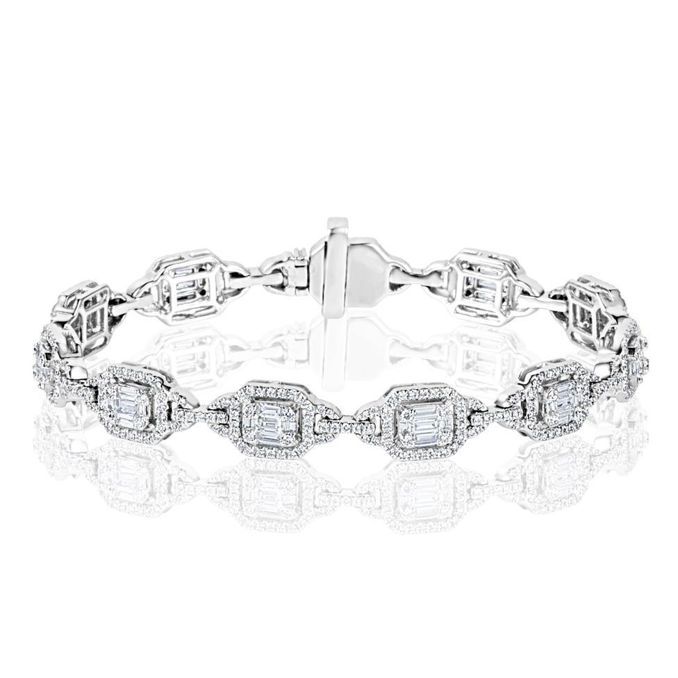 Odyssey 18ct White Gold Diamond Bracelet Thumbnail Image 0