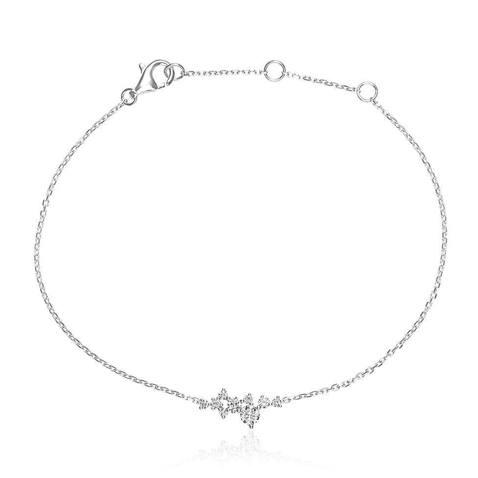 Stardust 18ct White Gold Diamond Bracelet Thumbnail Image 0