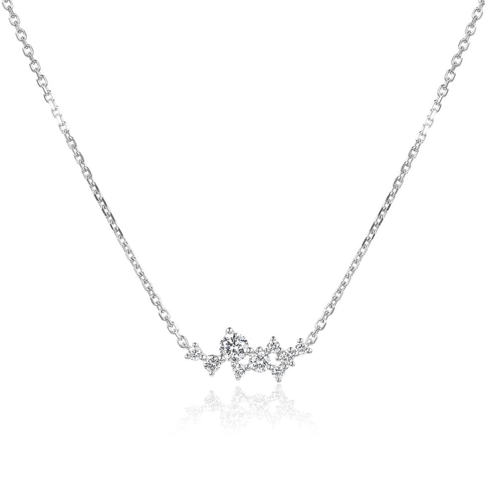 Stardust 18ct White Gold Diamond Necklace Thumbnail Image 0
