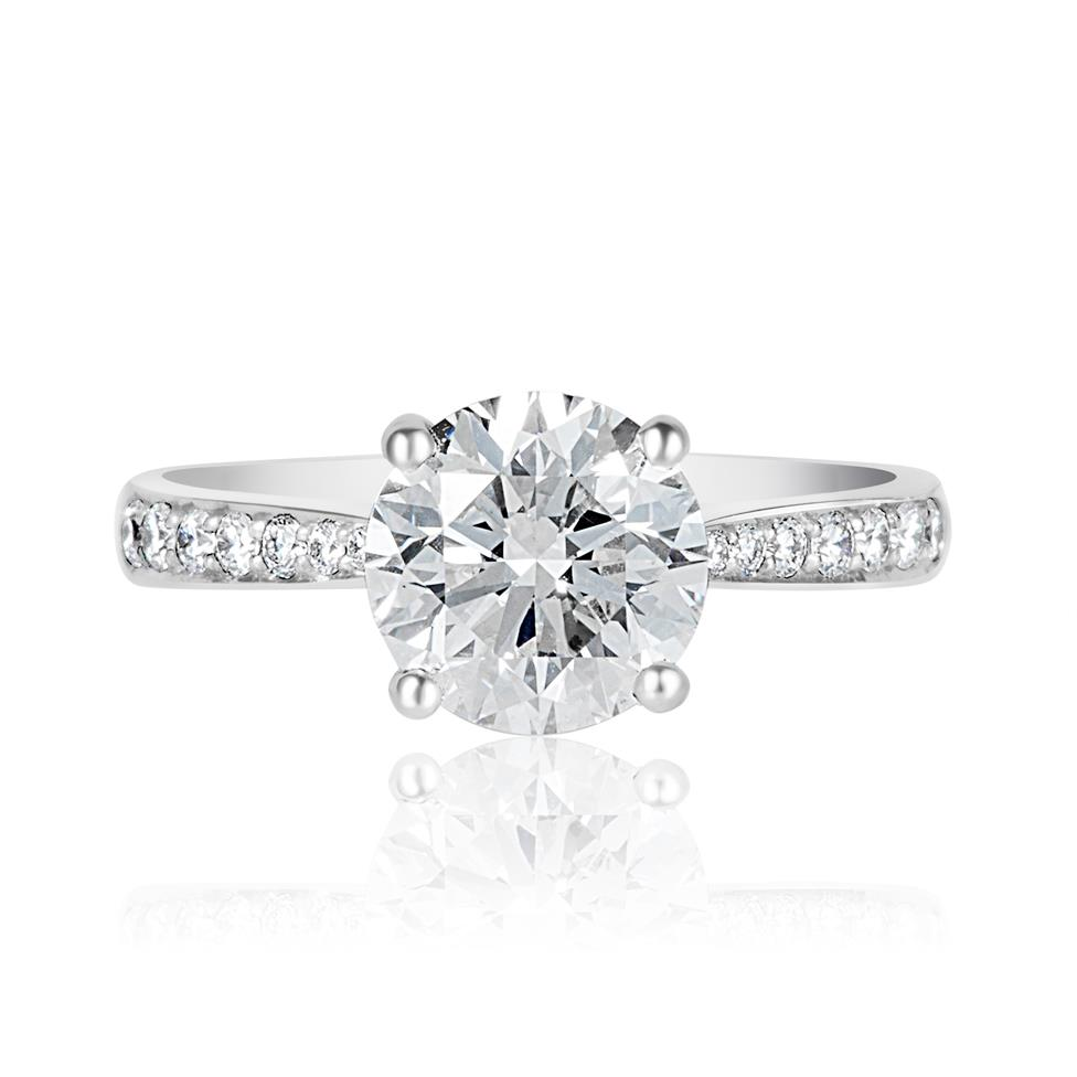 Platinum Diamond Solitaire Engagement Ring 2.24ct Thumbnail Image 1