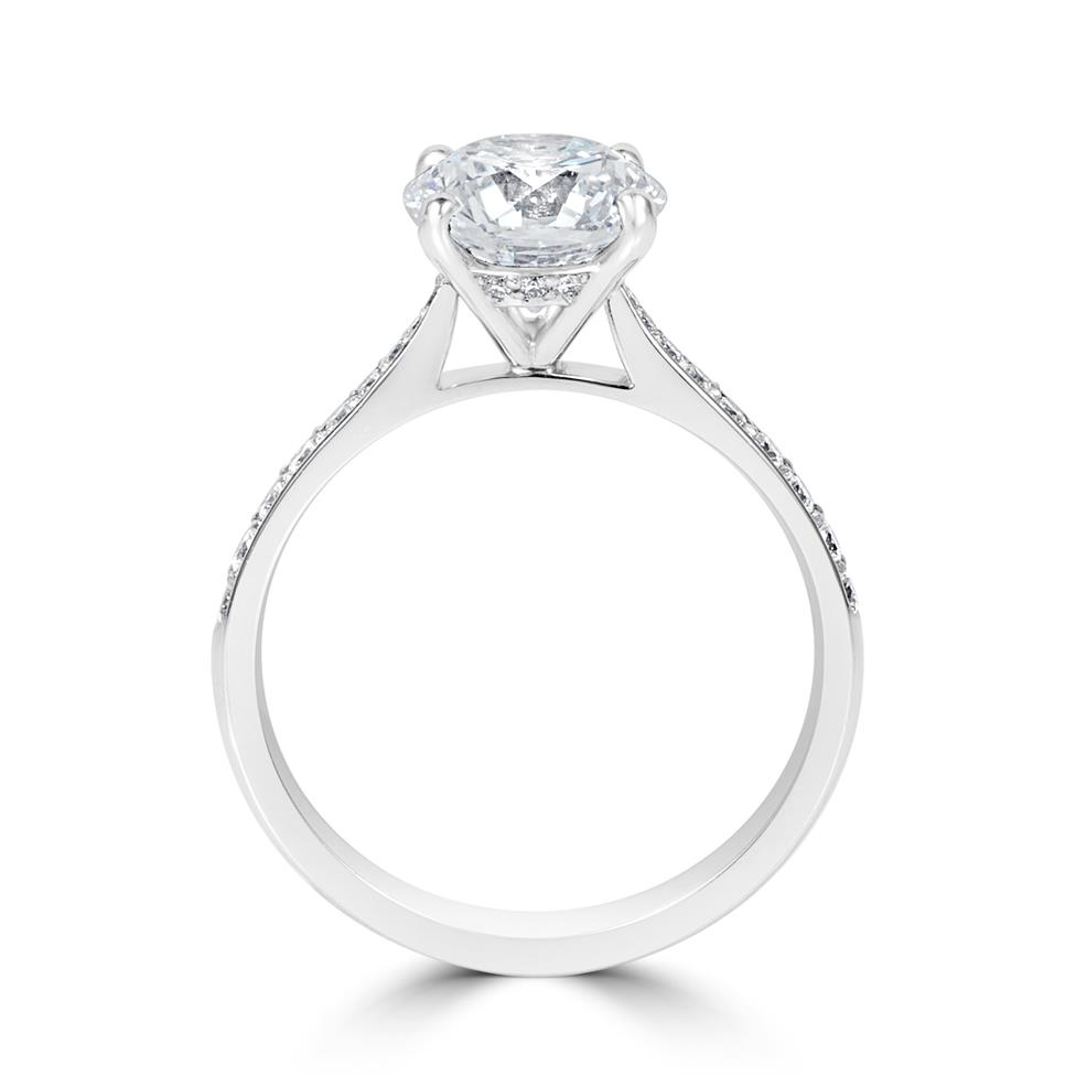 Platinum Diamond Solitaire Engagement Ring 2.24ct Thumbnail Image 2