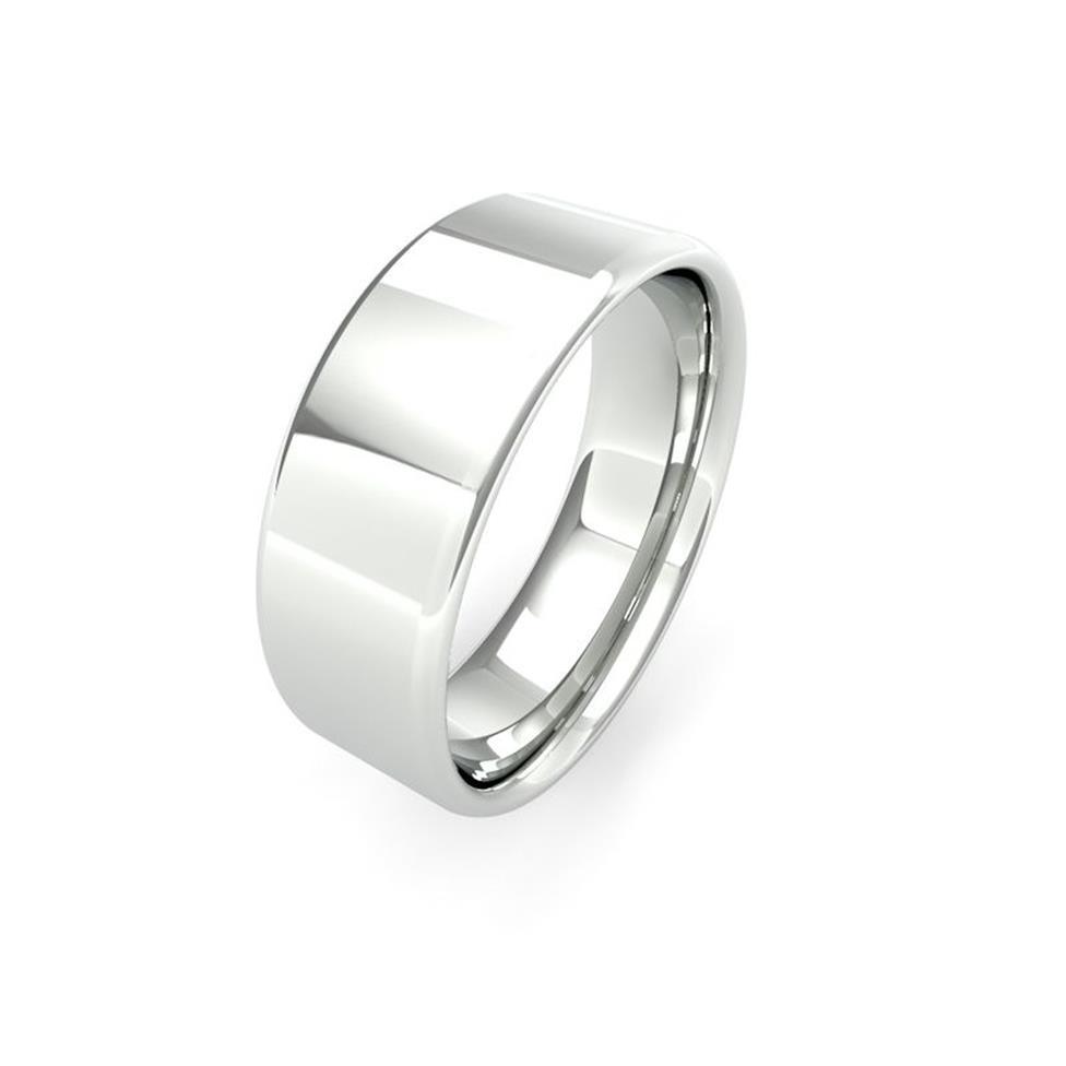 Platinum Intermediate Gauge Flat Court Wedding Ring Thumbnail Image 7