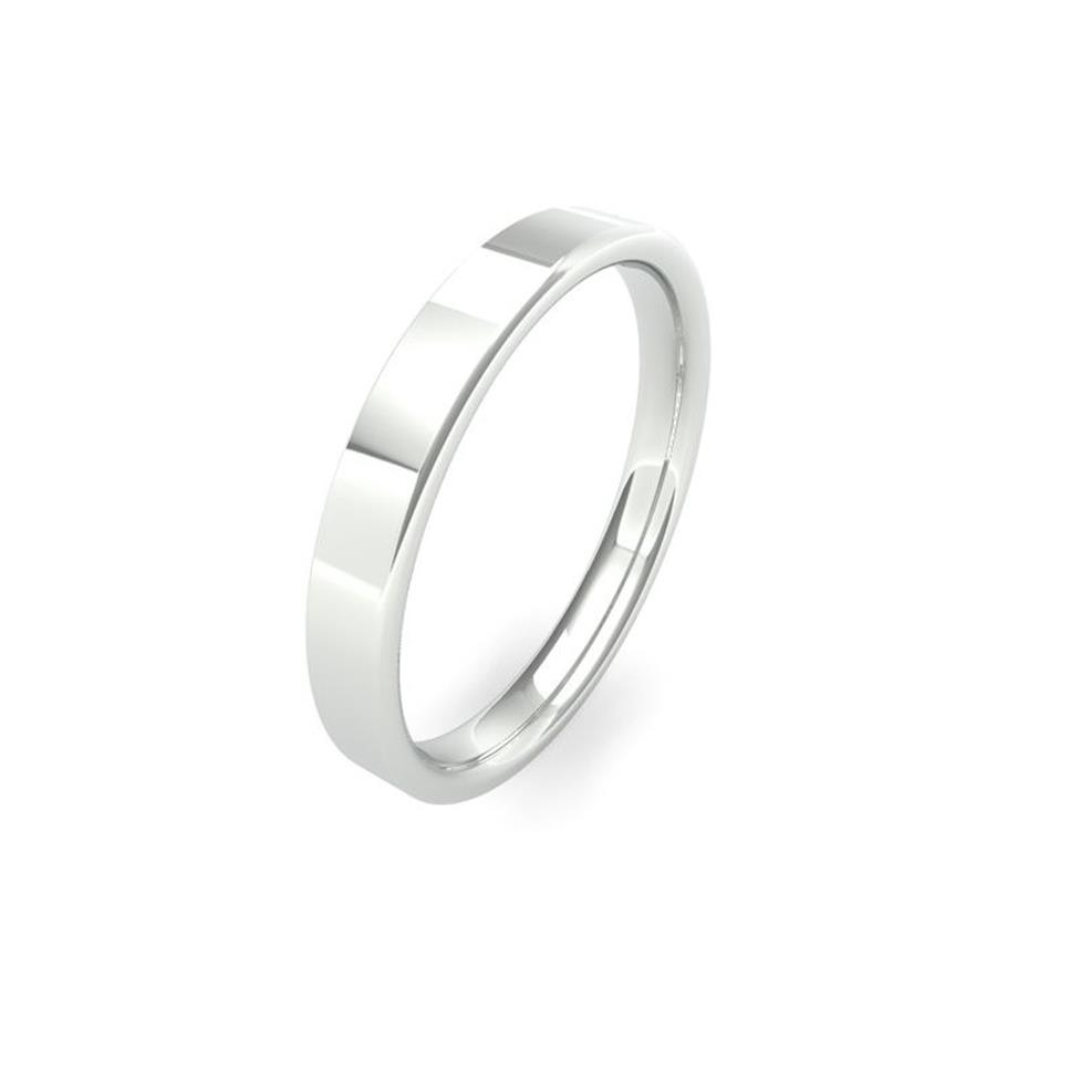 Platinum Intermediate Gauge Flat Court Wedding Ring Thumbnail Image 2