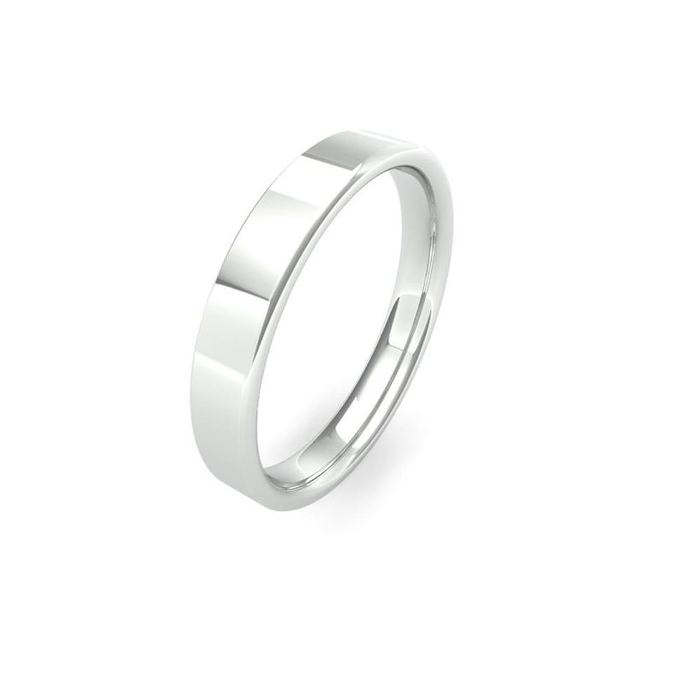 Platinum Intermediate Gauge Flat Court Wedding Ring Thumbnail Image 3