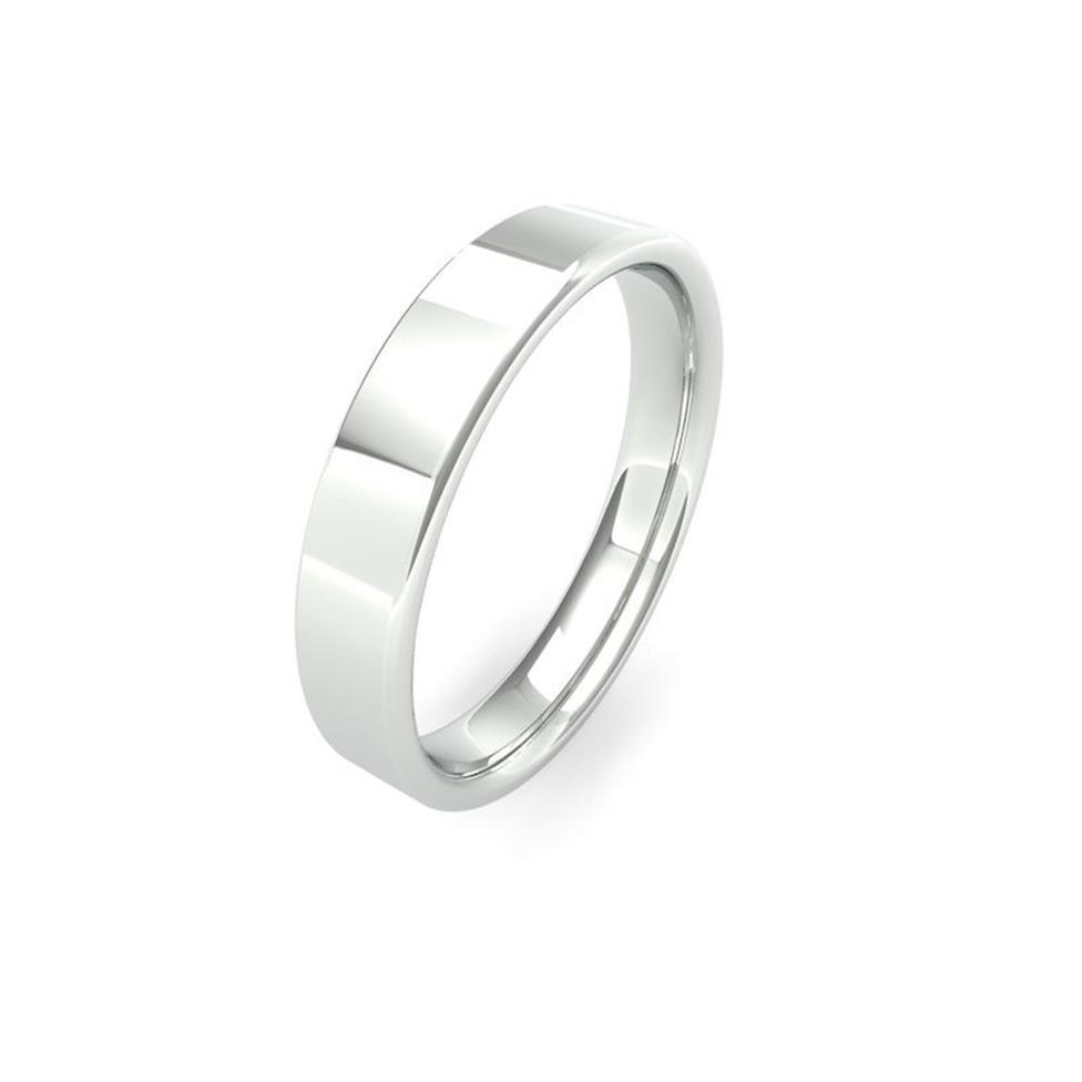 Platinum Intermediate Gauge Flat Court Wedding Ring Thumbnail Image 4