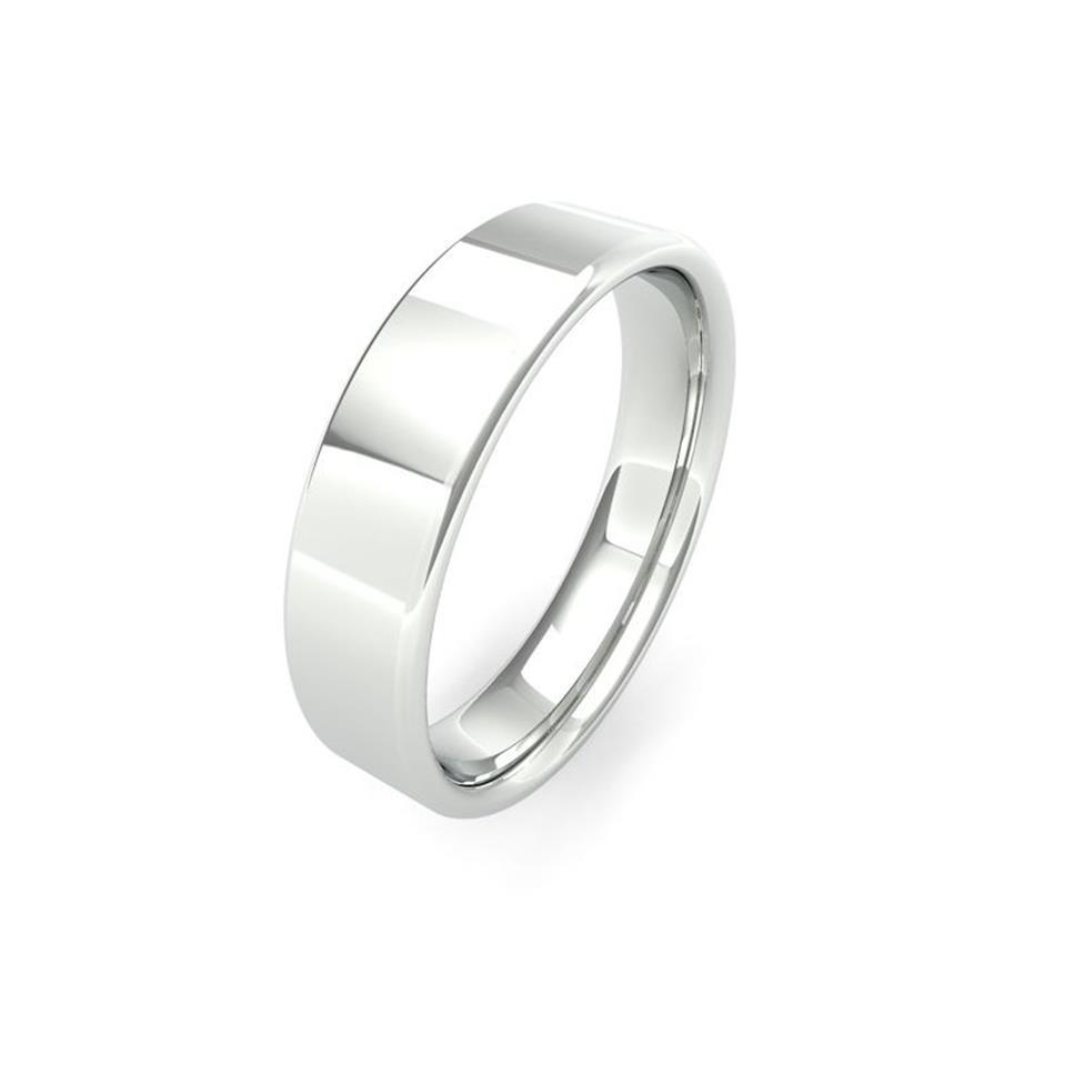 Platinum Intermediate Gauge Flat Court Wedding Ring Thumbnail Image 5