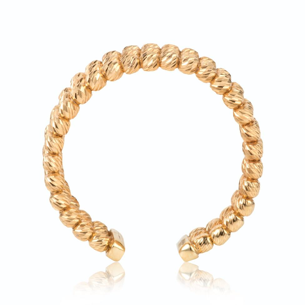 18ct Yellow Gold Bead Design Dress Ring Thumbnail Image 1