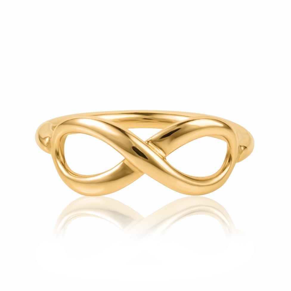 Infinity 18ct Yellow Gold Dress Ring Thumbnail Image 2