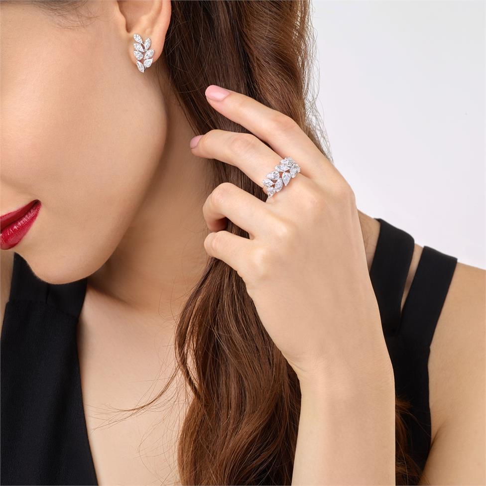 Eden 18ct White Gold Diamond Dress Ring 1.63ct Thumbnail Image 1