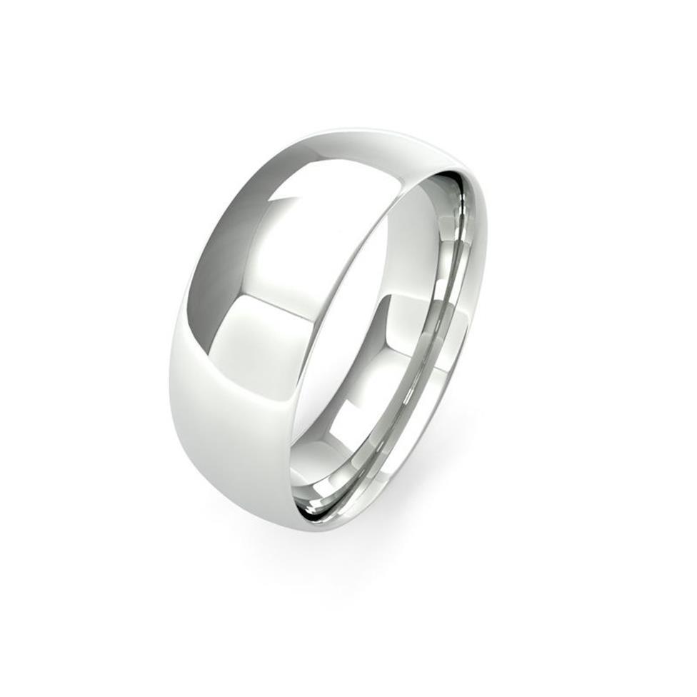 Platinum Medium Gauge Traditional Court Wedding Ring Thumbnail Image 7