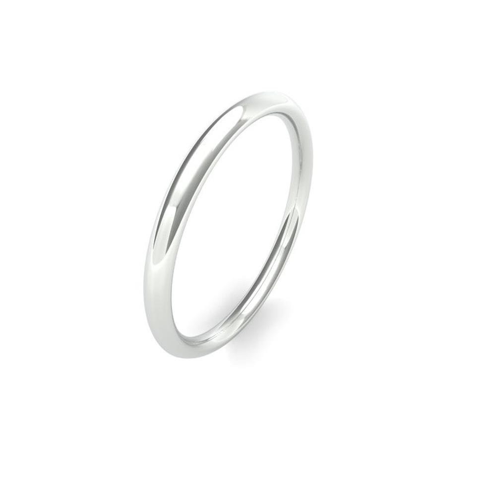 Platinum Medium Gauge Traditional Court Wedding Ring Thumbnail Image 0