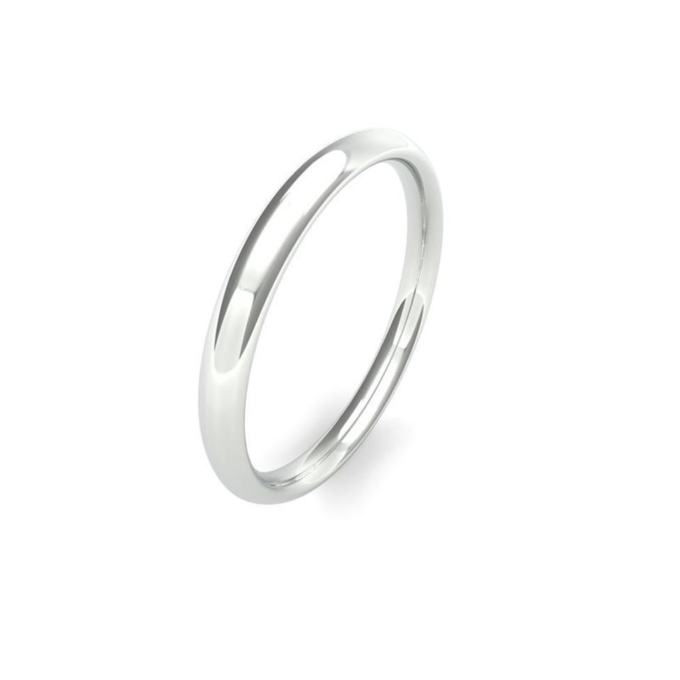 Platinum Medium Gauge Traditional Court Wedding Ring Thumbnail Image 1