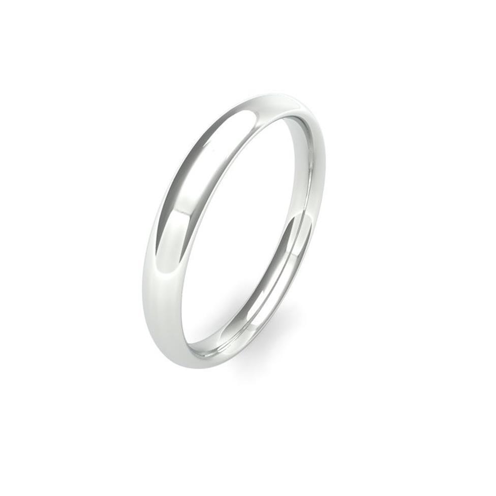 Platinum Medium Gauge Traditional Court Wedding Ring Thumbnail Image 2