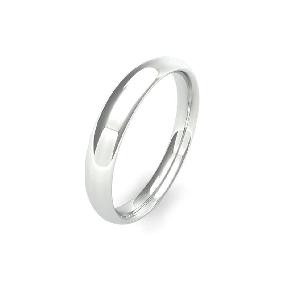 Platinum Medium Gauge Traditional Court Wedding Ring Thumbnail Image 3