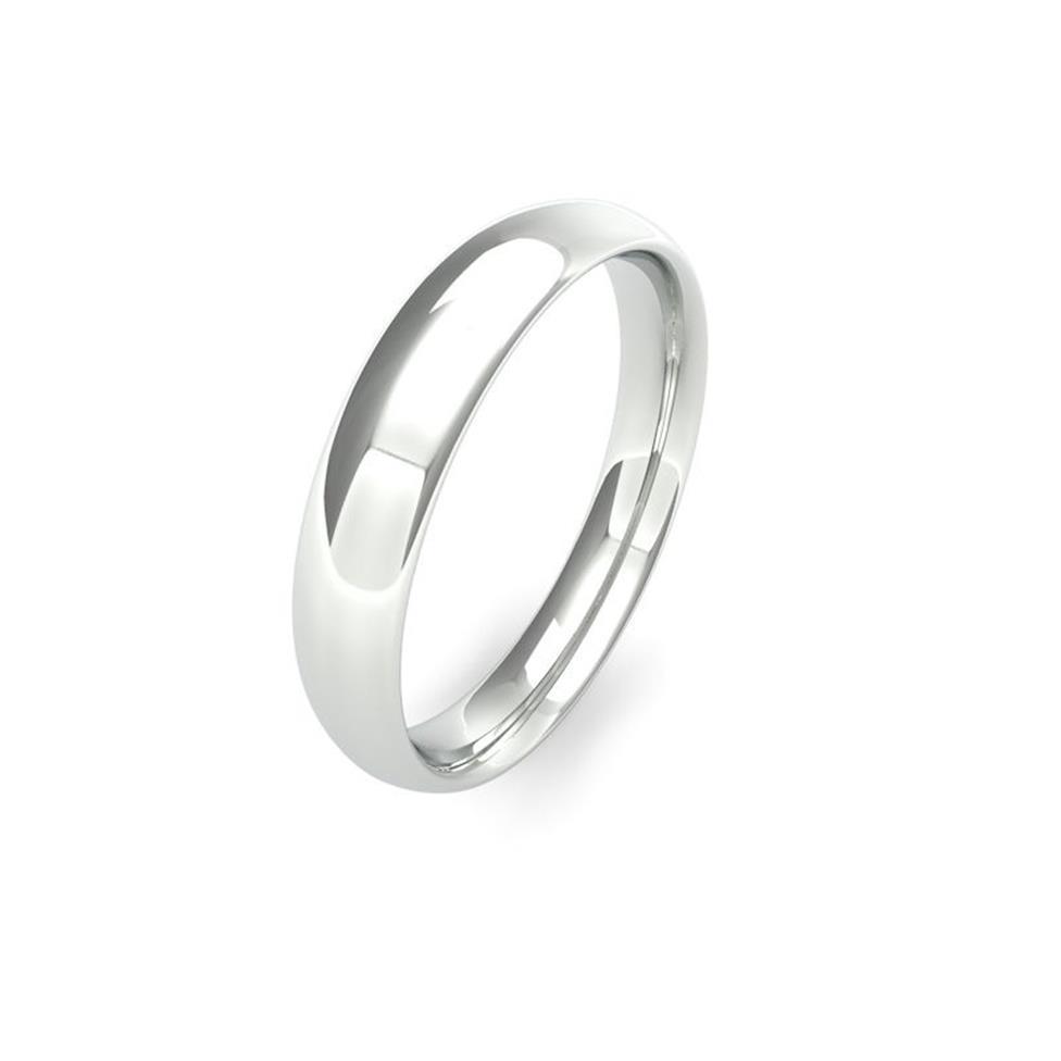 Platinum Medium Gauge Traditional Court Wedding Ring Thumbnail Image 4