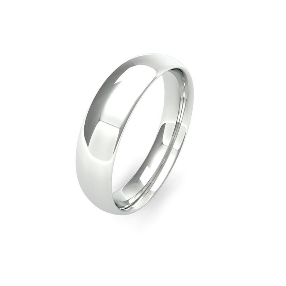Platinum Medium Gauge Traditional Court Wedding Ring Thumbnail Image 5