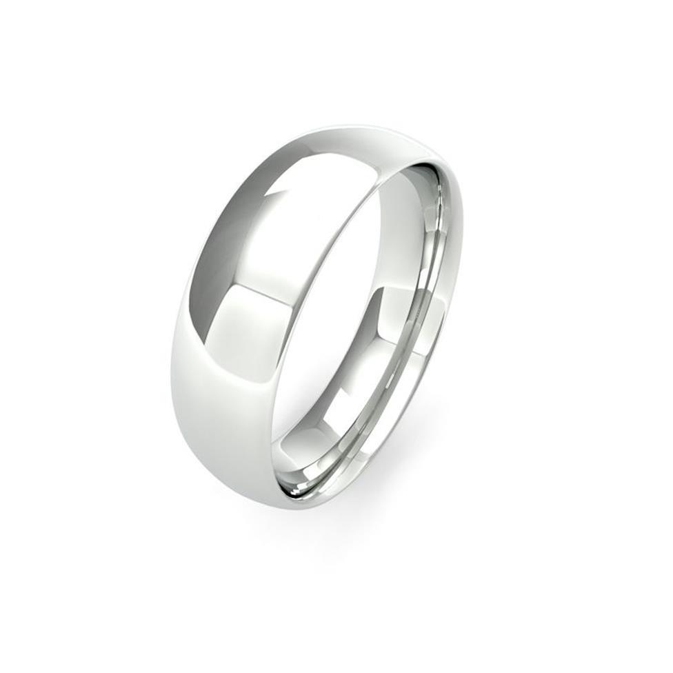 Platinum Medium Gauge Traditional Court Wedding Ring Thumbnail Image 6