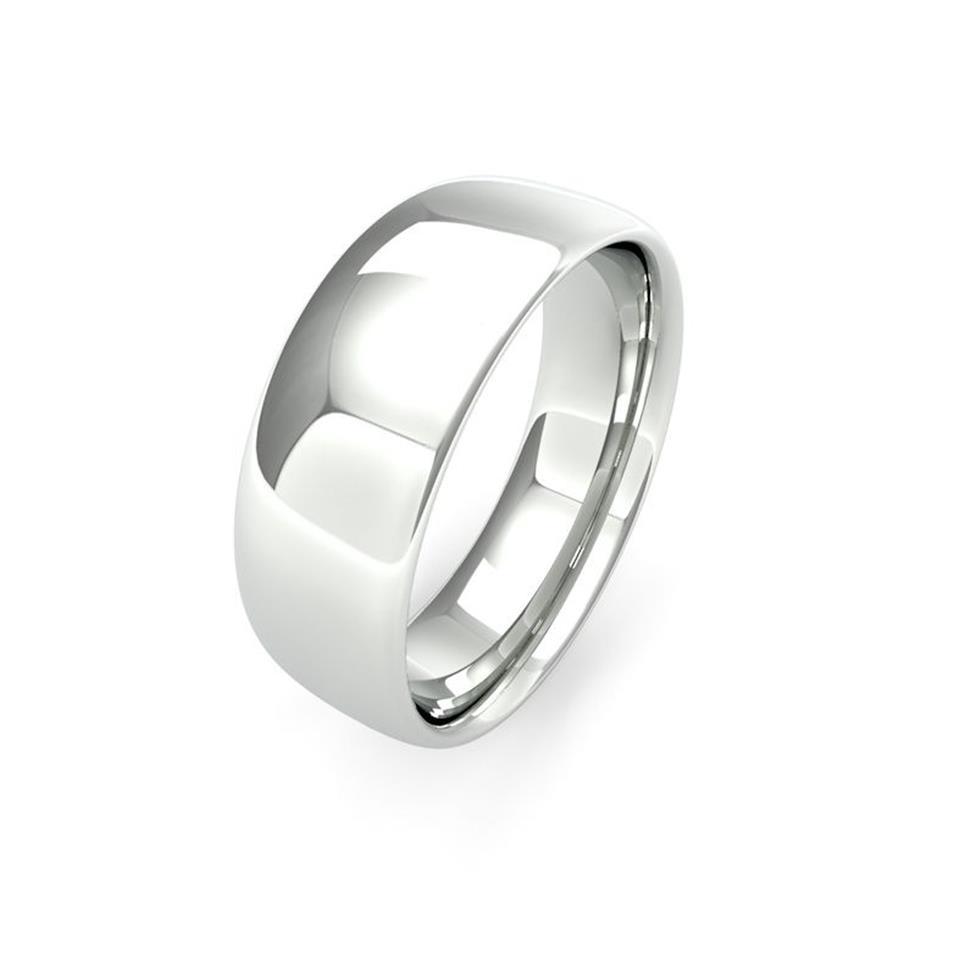 Palladium Medium Gauge Slight Court Wedding Ring Thumbnail Image 7