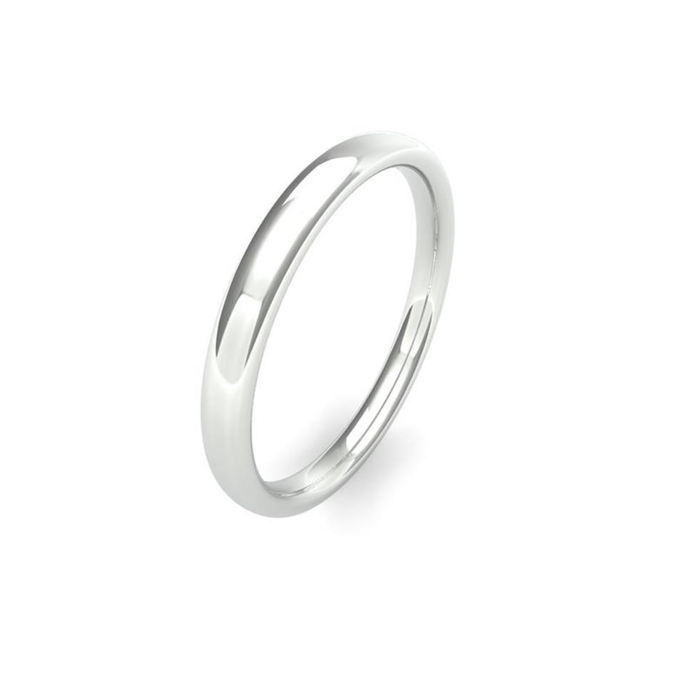 Palladium Medium Gauge Slight Court Wedding Ring Thumbnail Image 1