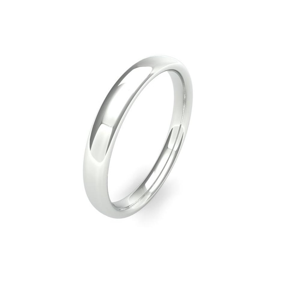 Palladium Medium Gauge Slight Court Wedding Ring Thumbnail Image 2
