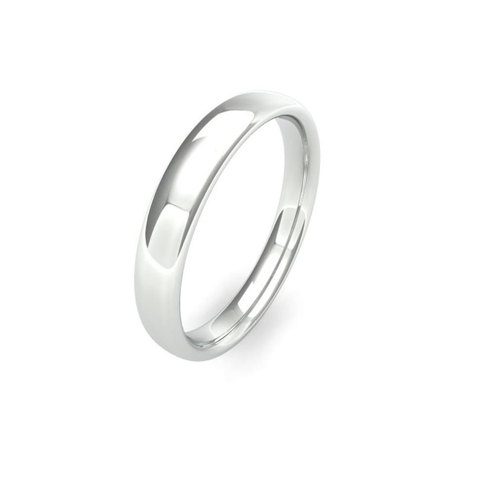 Palladium Medium Gauge Slight Court Wedding Ring Thumbnail Image 3