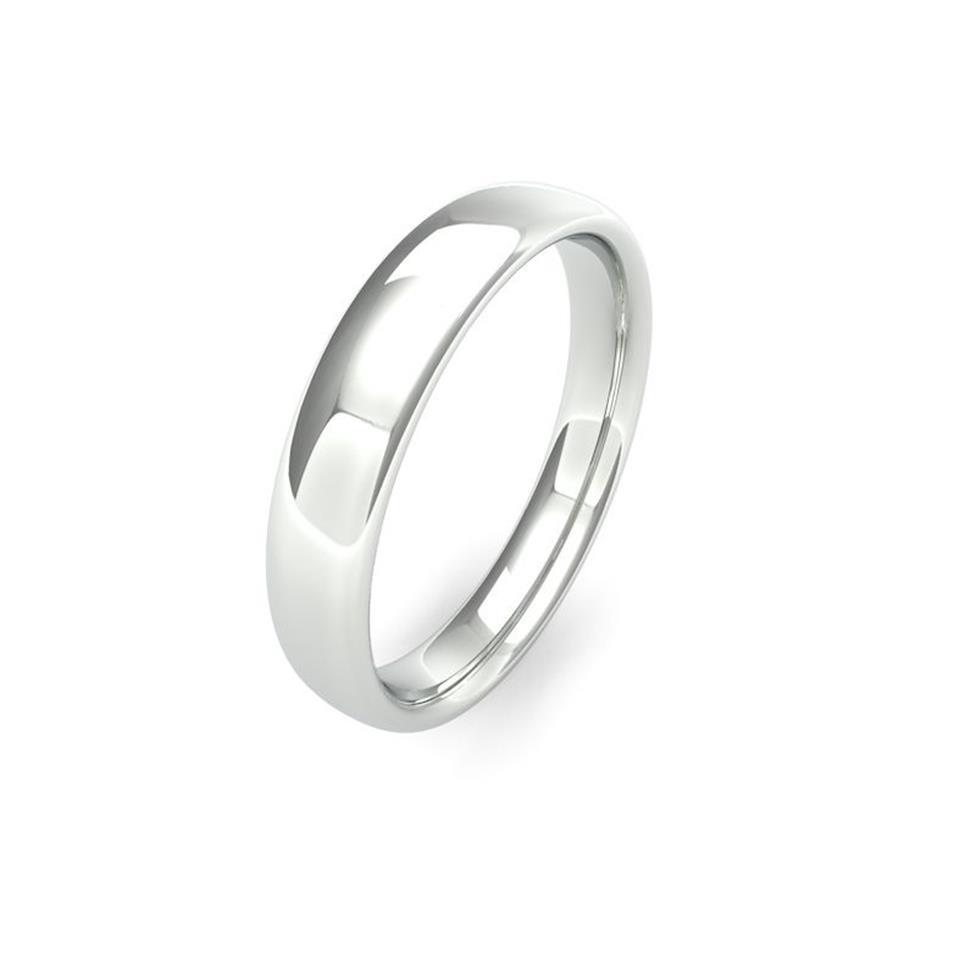 Palladium Medium Gauge Slight Court Wedding Ring Thumbnail Image 4