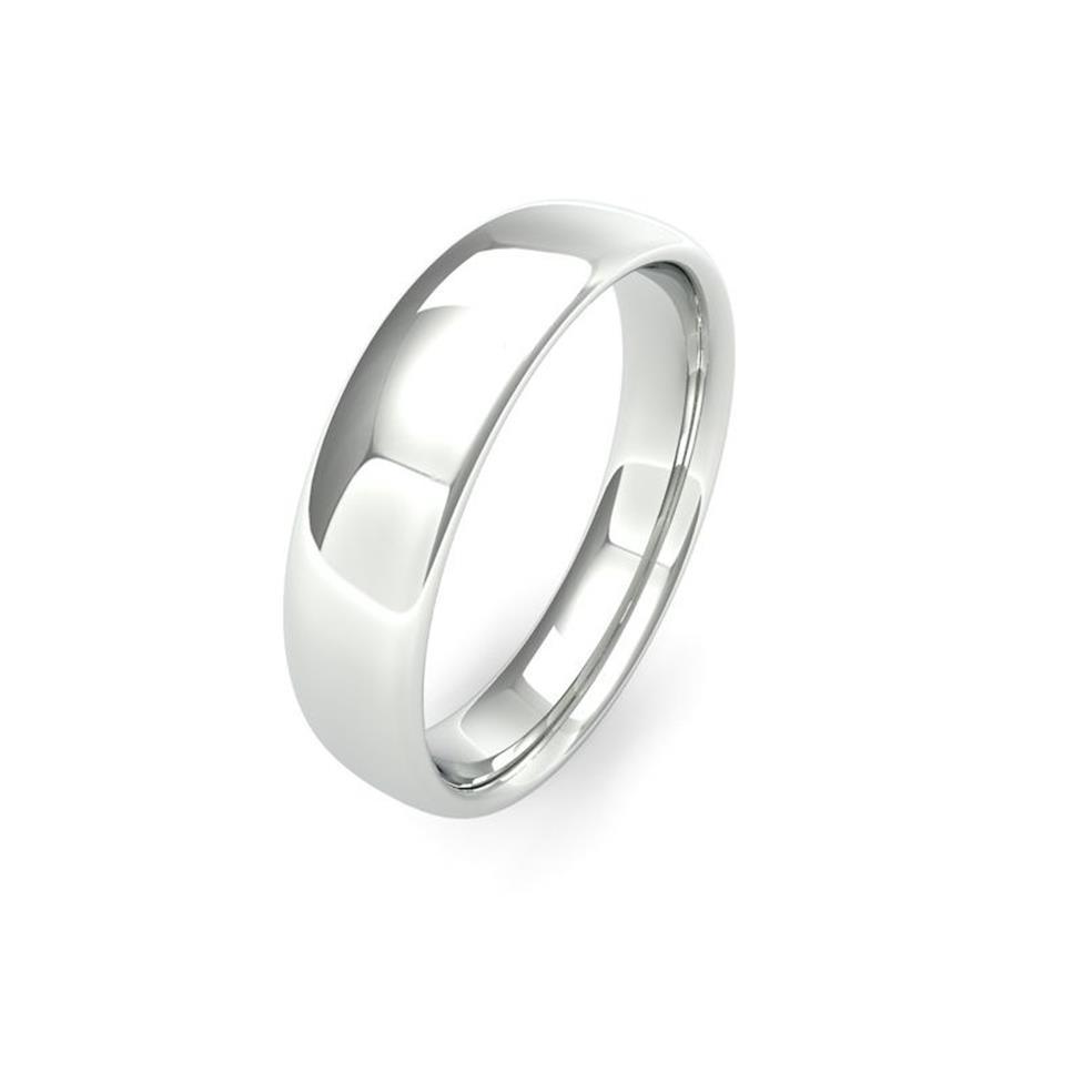 Palladium Medium Gauge Slight Court Wedding Ring Thumbnail Image 5