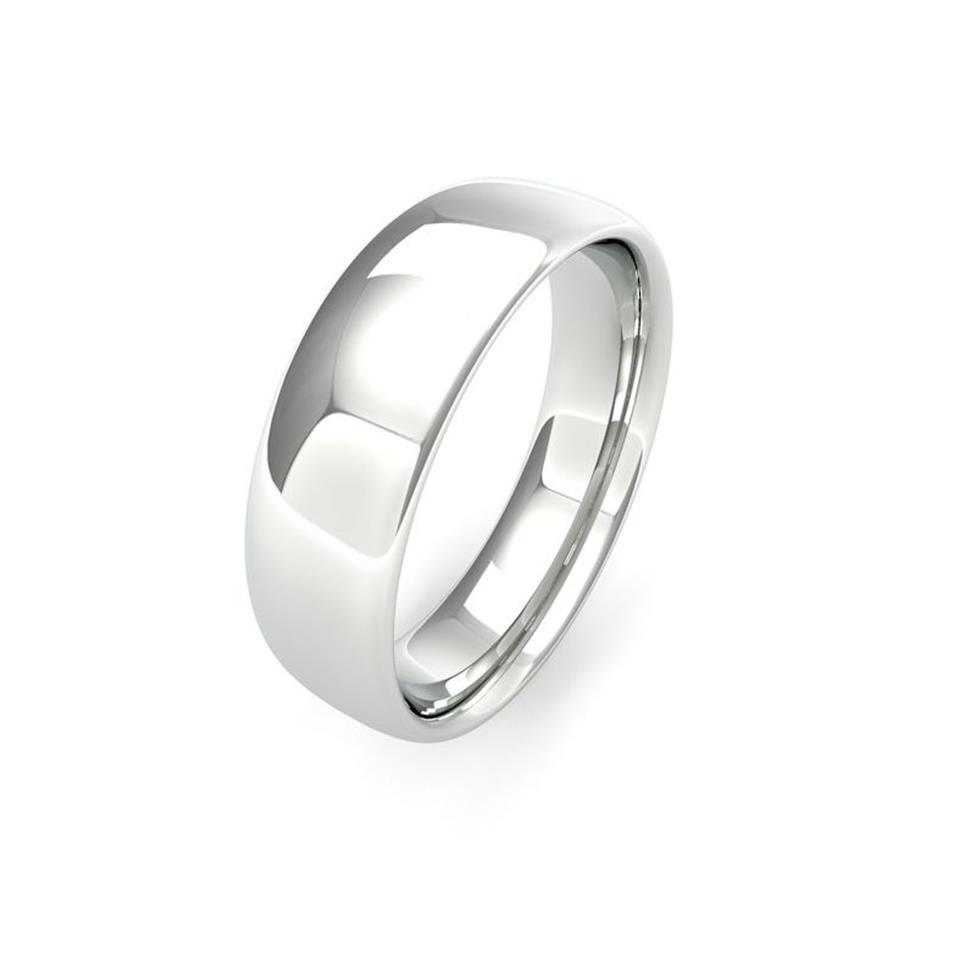 Palladium Medium Gauge Slight Court Wedding Ring Thumbnail Image 6