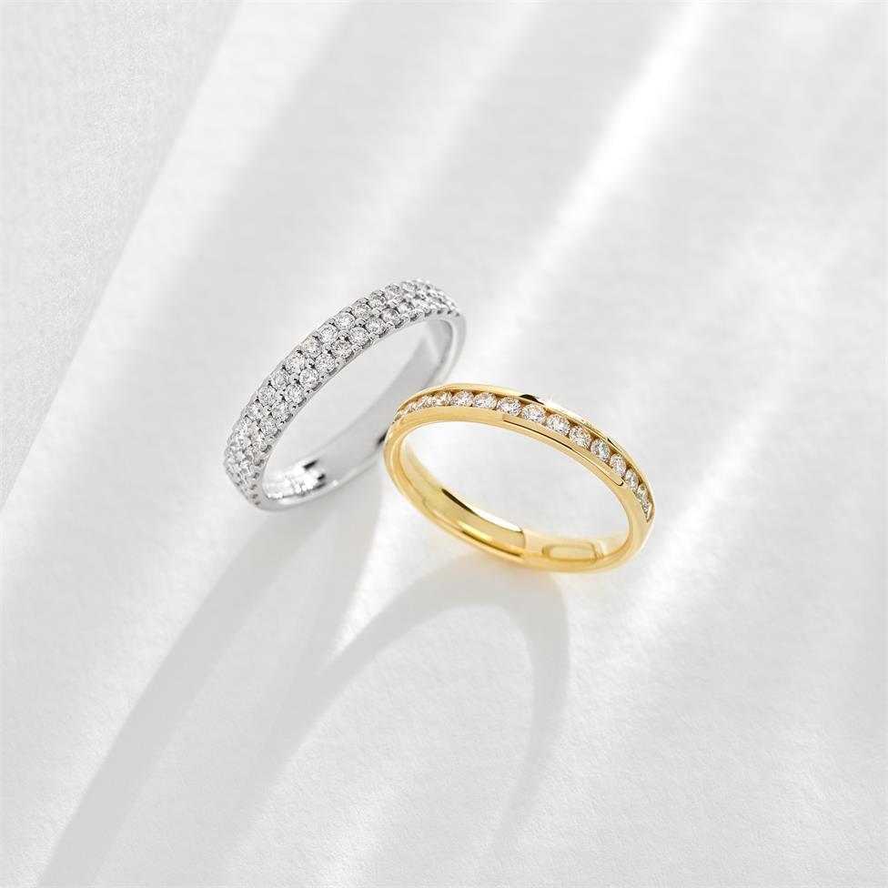 18ct Yellow Gold Diamond Half Eternity Ring 0.33ct Thumbnail Image 2