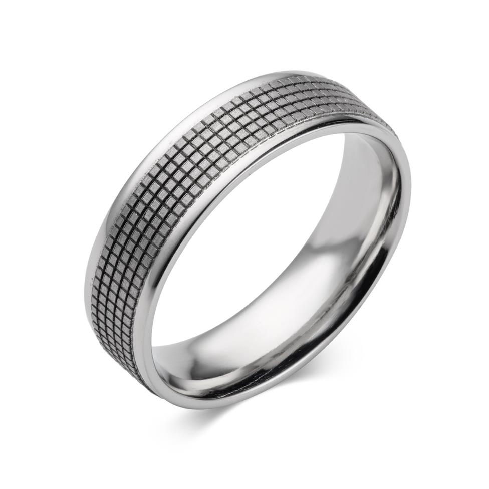 Palladium Squared Pattern Band Thumbnail Image 0