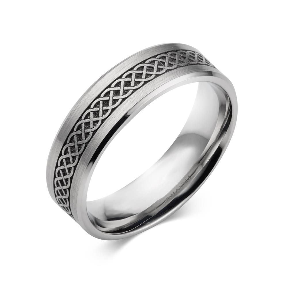 Palladium Celtic Weave Patterned Band Thumbnail Image 0