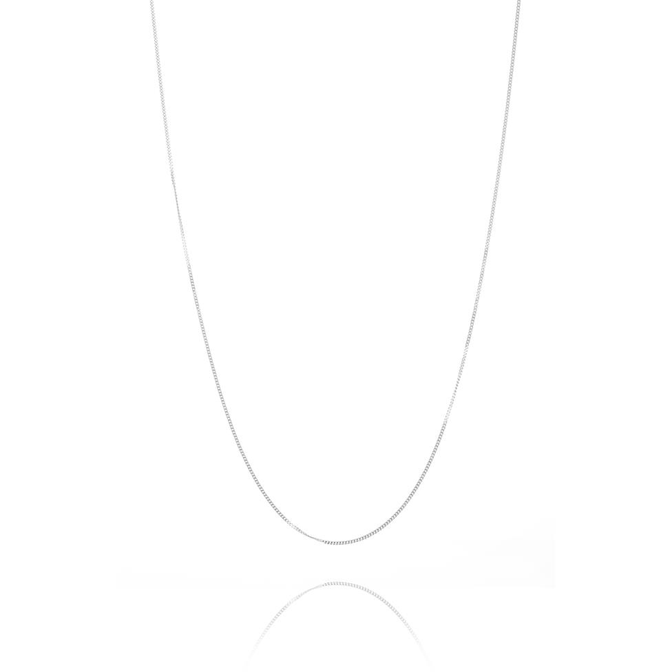 18ct White Gold Curb Chain Thumbnail Image 2