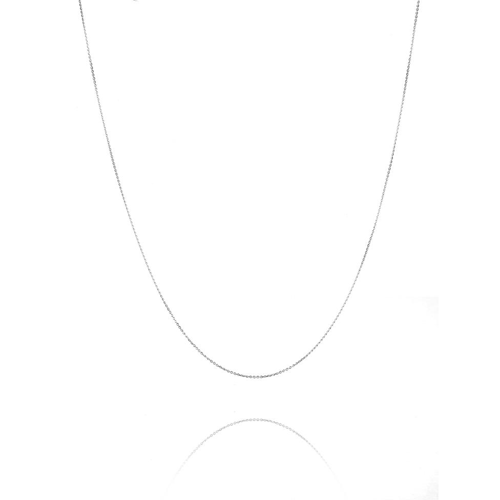 18ct White Gold Trace Chain Thumbnail Image 0