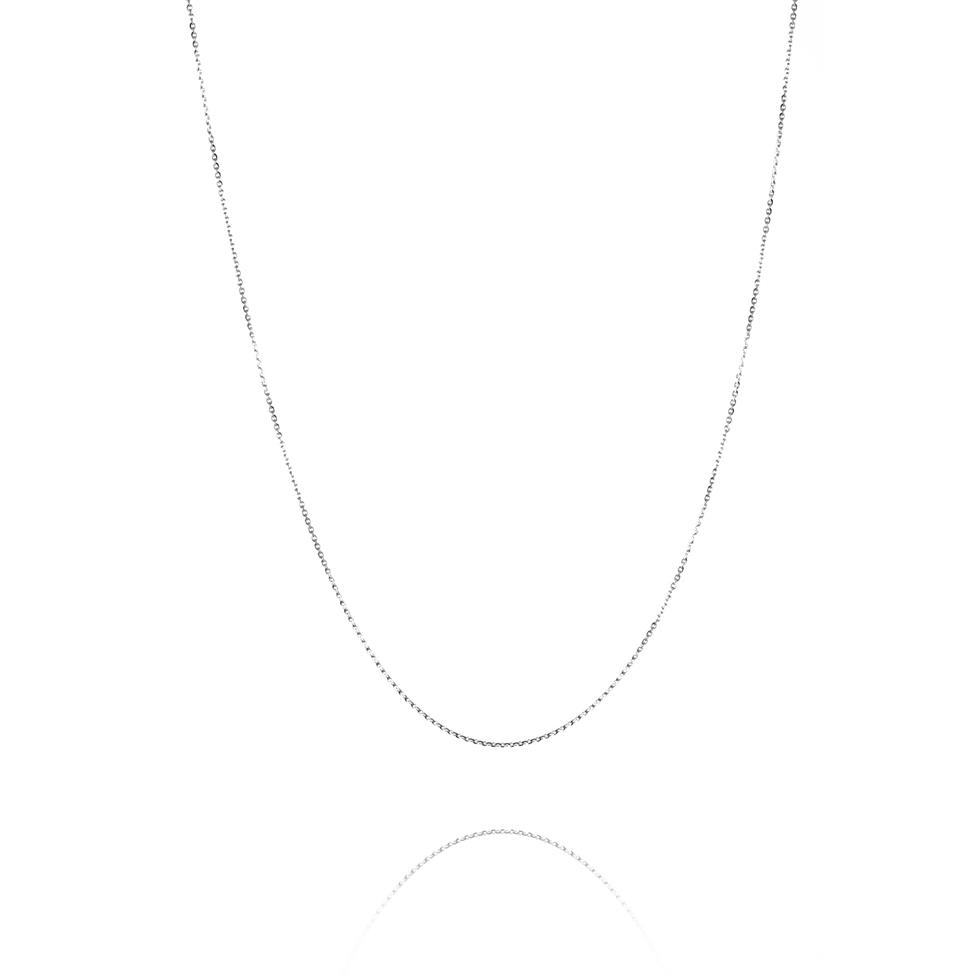 18ct White Gold Trace Chain Thumbnail Image 1