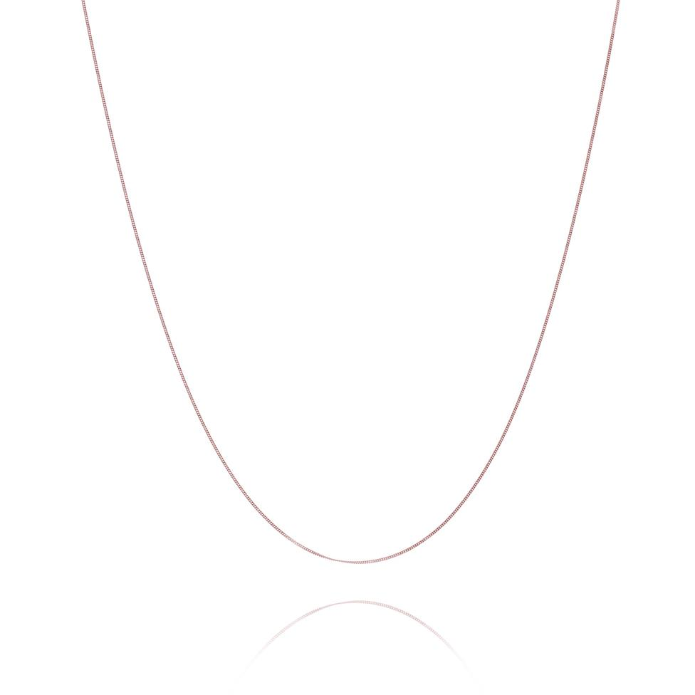 18ct Rose Gold Curb Chain Thumbnail Image 0
