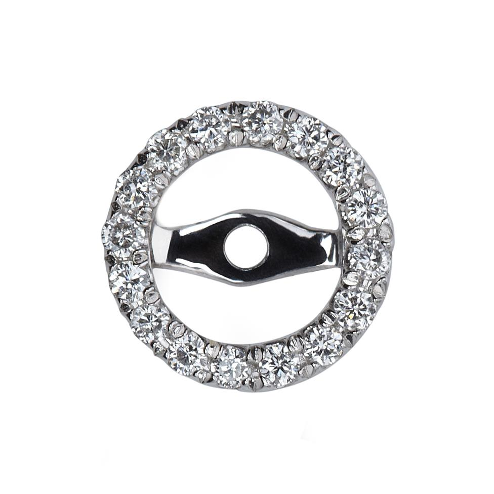 18ct White Gold Diamond Earring Sleeves Thumbnail Image 0