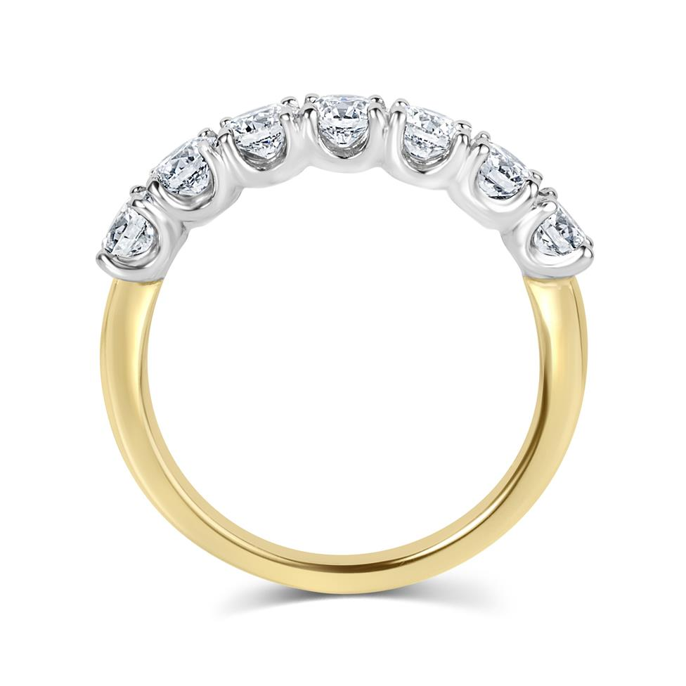 18ct Yellow Gold Diamond Half Eternity Ring 1.10ct Thumbnail Image 2