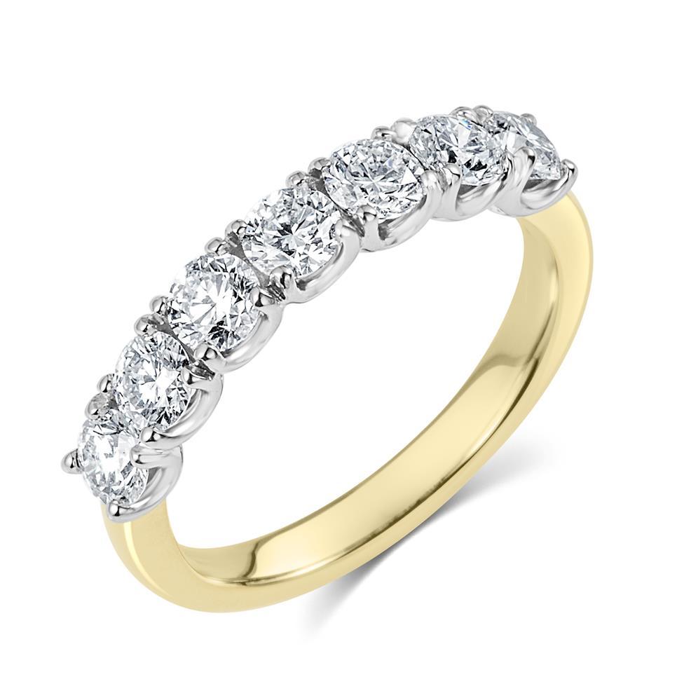 18ct Yellow Gold Diamond Half Eternity Ring 1.10ct Thumbnail Image 0