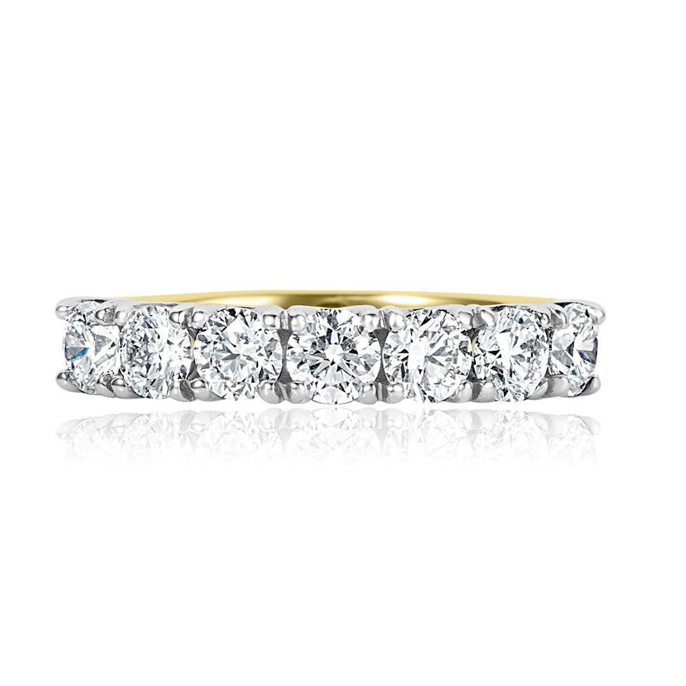 18ct Yellow Gold Diamond Half Eternity Ring 1.10ct Thumbnail Image 1