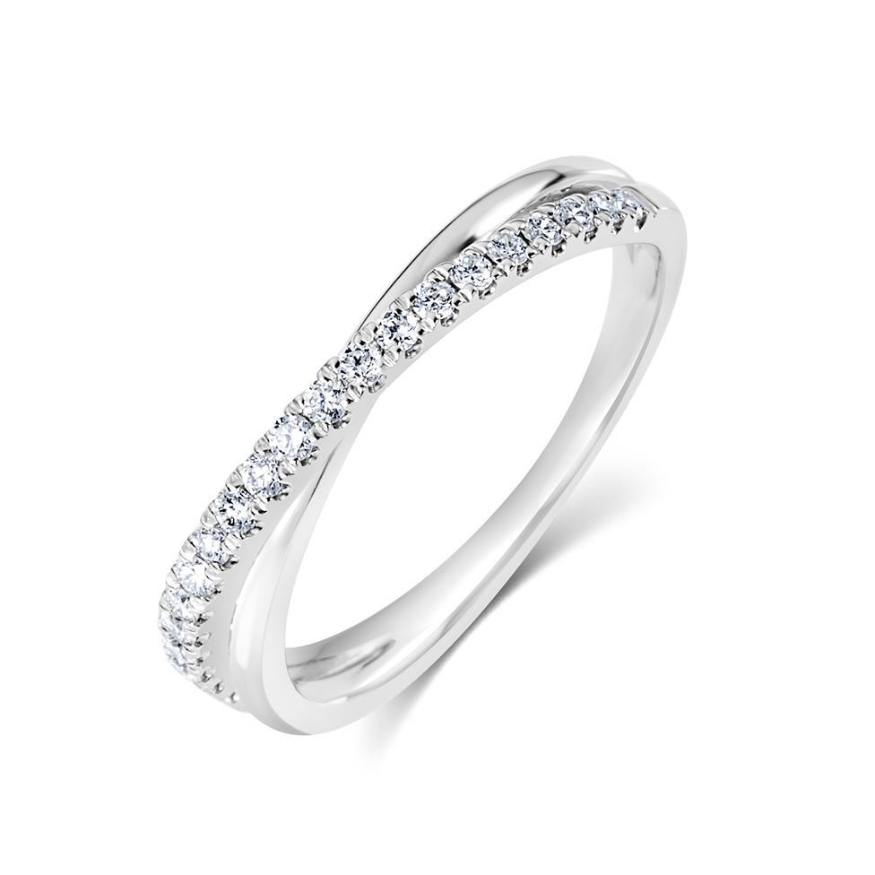Platinum Crossover Design Diamond Dress Ring 0.20ct Thumbnail Image 0