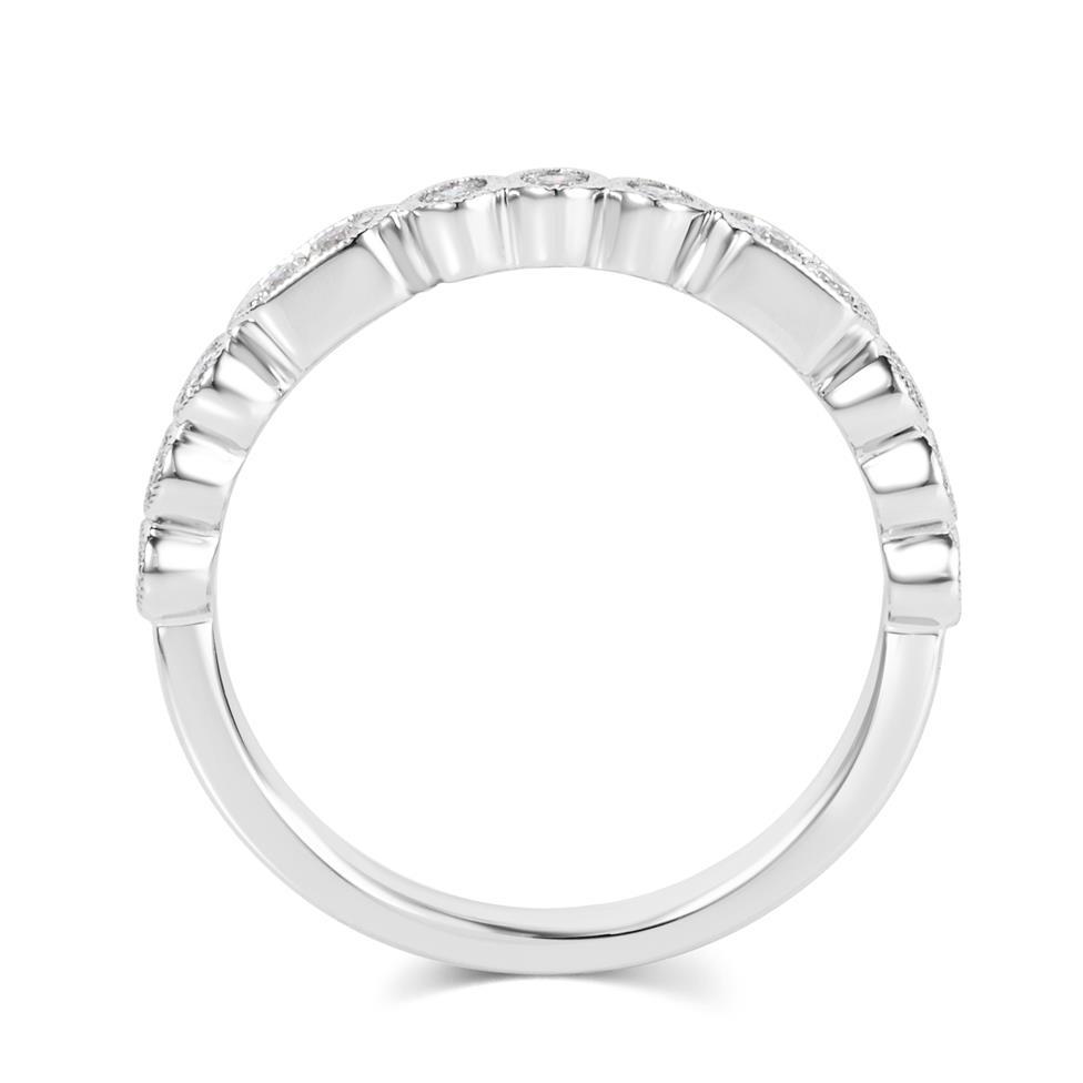 Platinum Vintage Style Diamond Half Eternity Ring 0.22ct Thumbnail Image 2