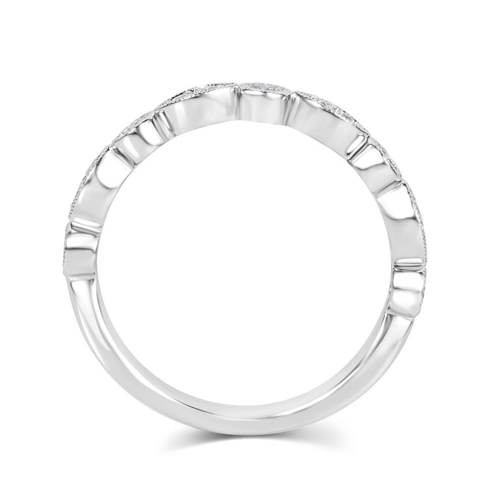 Platinum Vintage Style Diamond Half Eternity Ring 0.30ct Thumbnail Image 2
