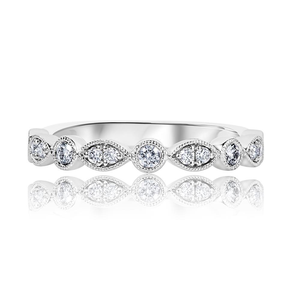 Platinum Vintage Style Diamond Half Eternity Ring 0.30ct Thumbnail Image 1