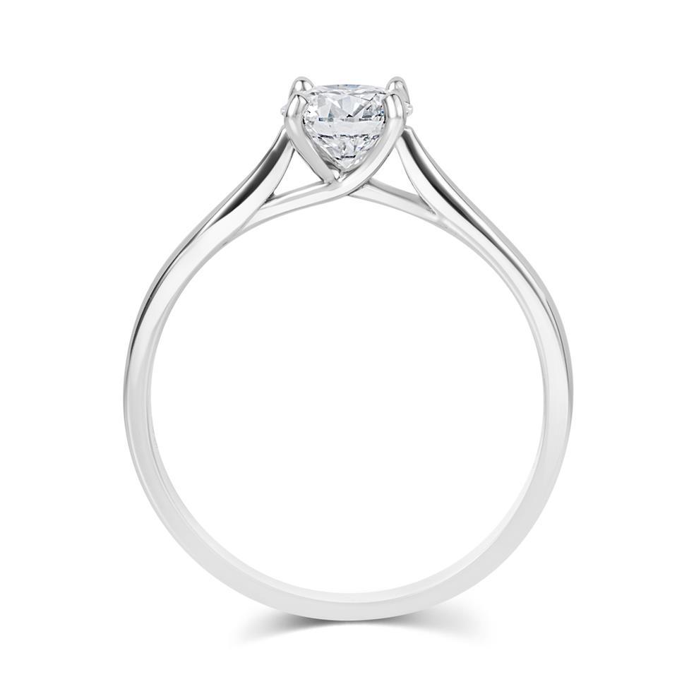 Platinum Diamond Solitaire Engagement Ring 0.70ct Thumbnail Image 2