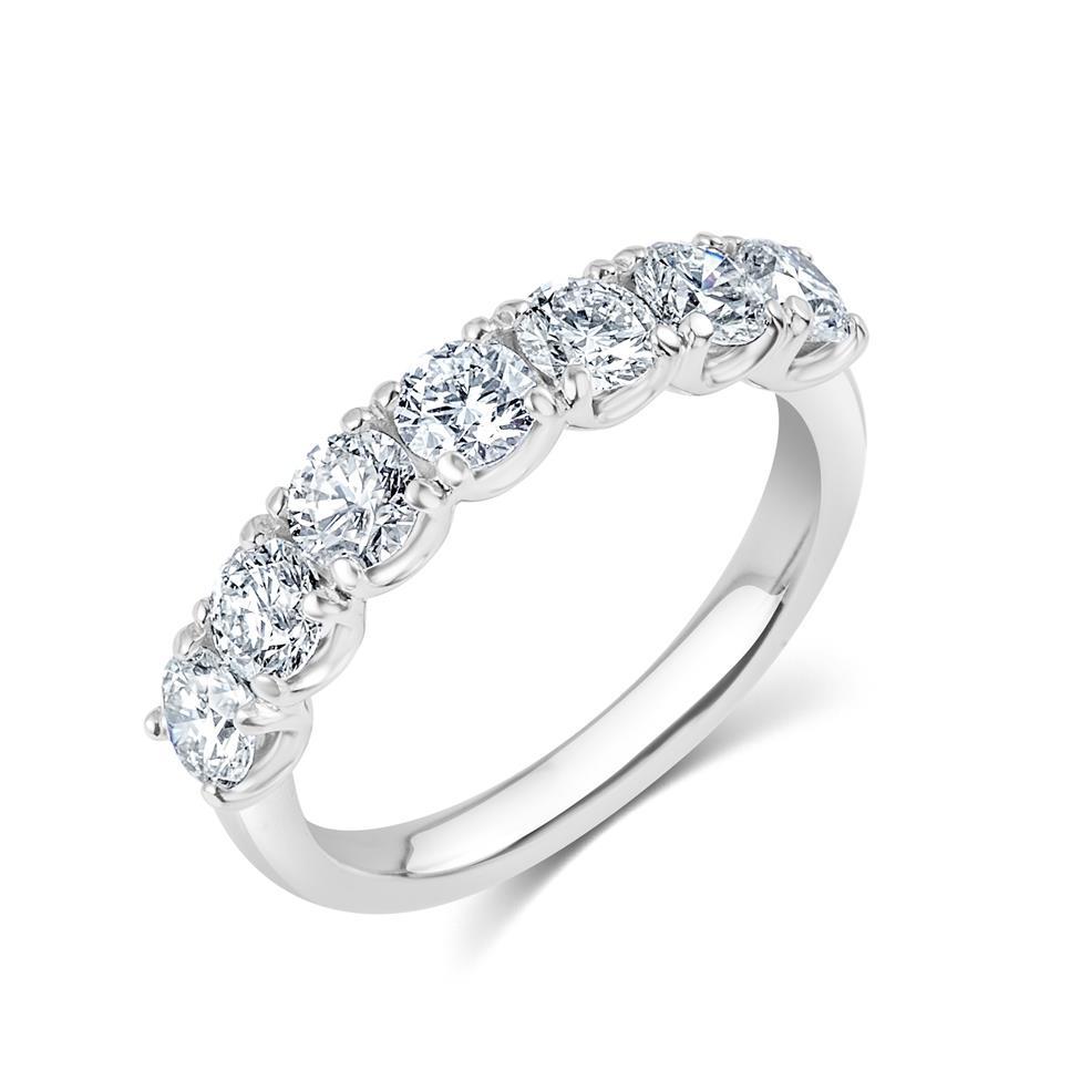 Platinum Diamond Half Eternity Ring 1.50ct Thumbnail Image 0