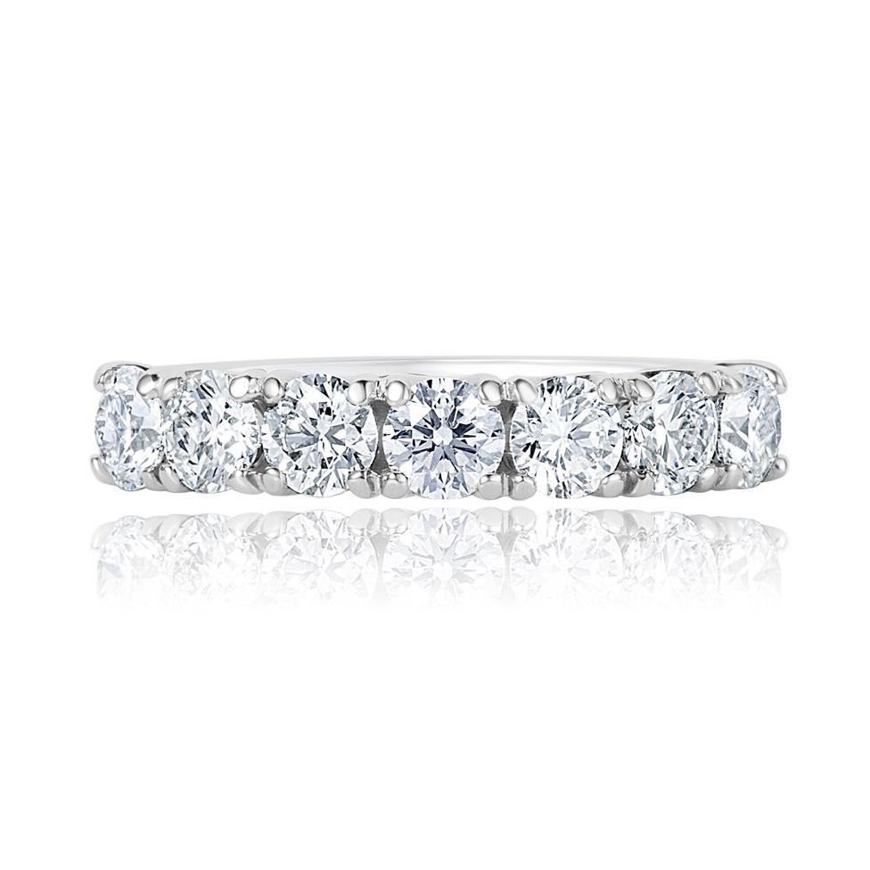 Platinum Diamond Half Eternity Ring 1.50ct Thumbnail Image 1