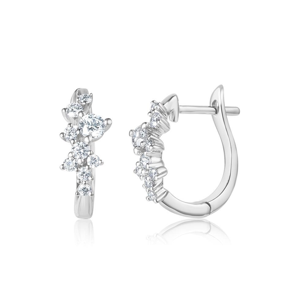 Stardust 18ct White Gold Diamond Hoop Earrings 0.43ct Thumbnail Image 0