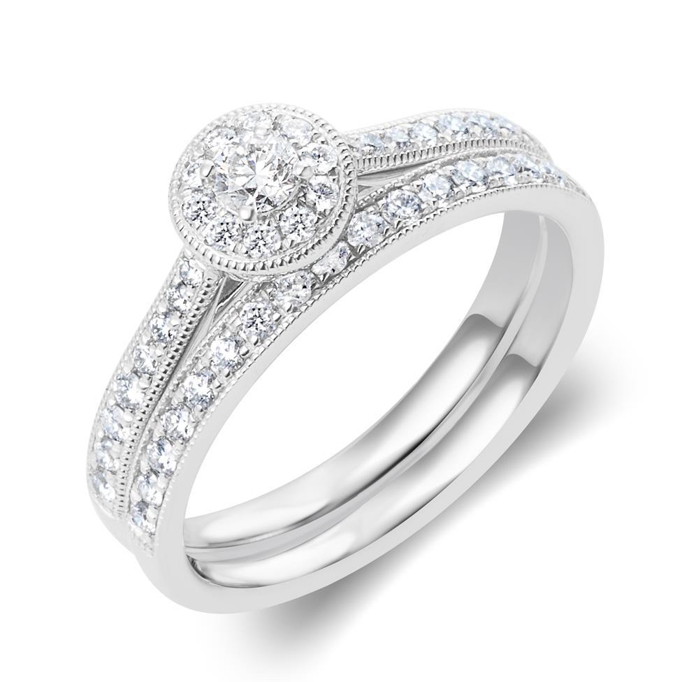 Platinum Diamond Half Eternity Ring 0.20ct Thumbnail Image 3